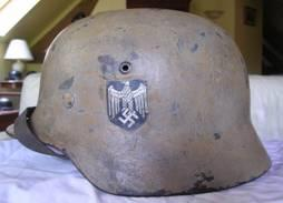 German camo helmet ww2